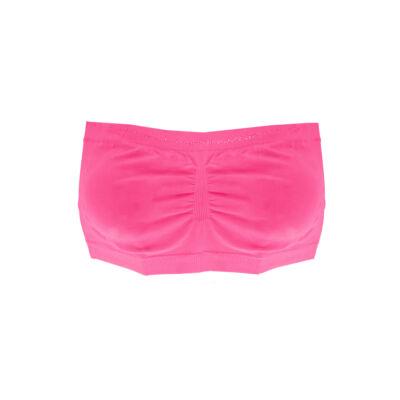 3 Darab L/XL Méretű Sima Lány Pántnélküli Köves Top Csomag(Rózsaszín,Pink,Mentazöld)
