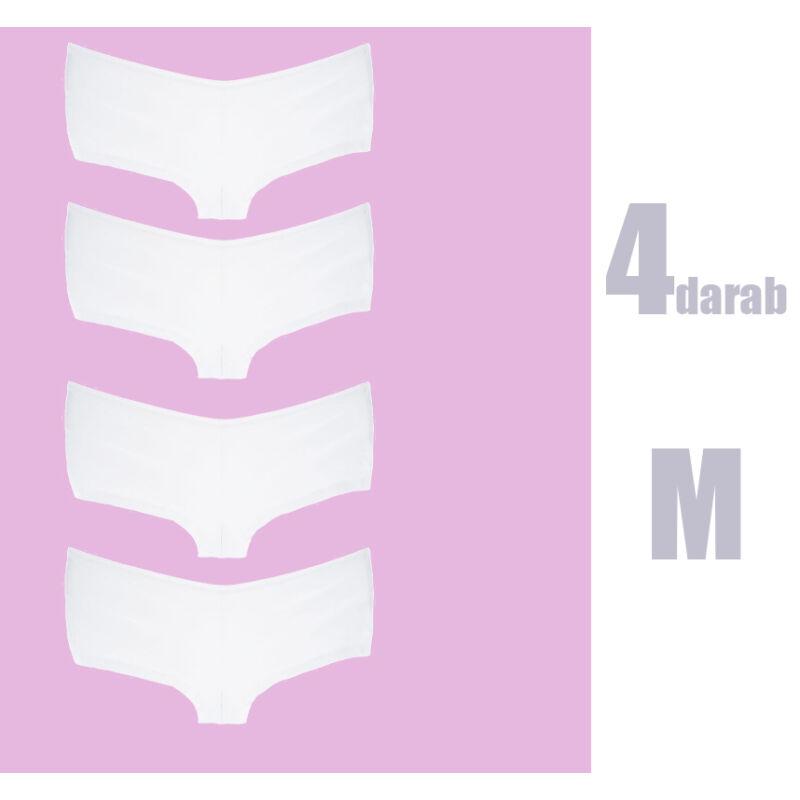 M méret 4 darabos Csomag FehérSimaPamutFranciaAlsó