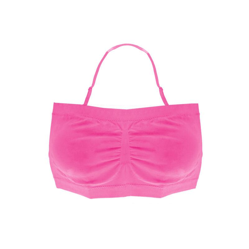 Sima Lány Rövid Top Állítható Pántos Pink Top
